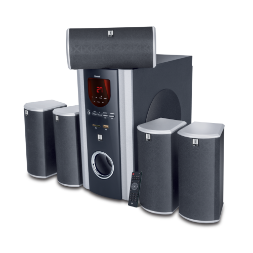 iBall Booster Multimedia Speakers Multiple Input Options – 5.1 / 2.1 / USB / SD Clear FM radio reception