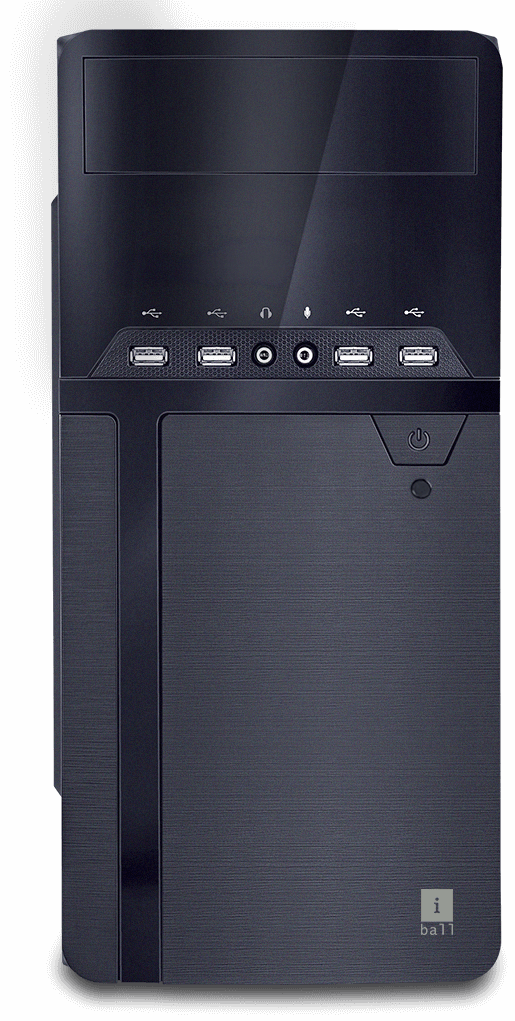 iBall Cabinet with SMPS Model: Majestro Front Panel: 4 USB Ports