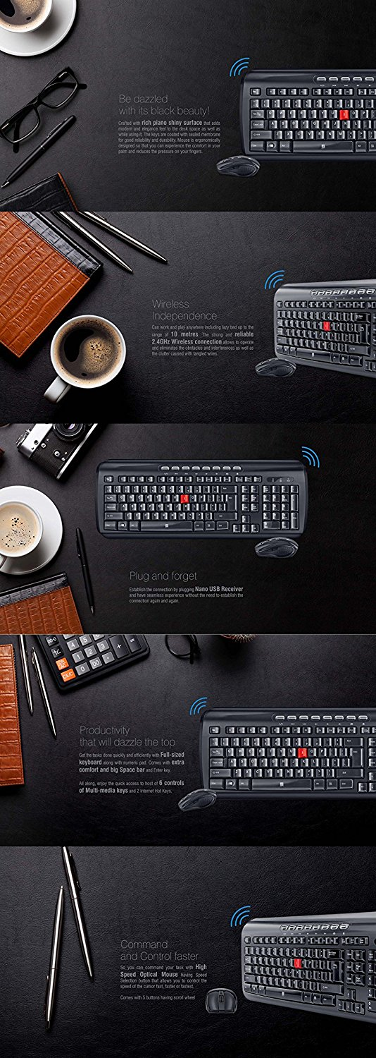 iBall Dazzling Duo D1 Wireless Stunning Keyboard and Mouse